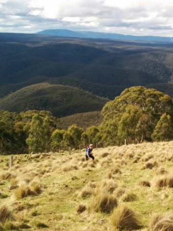 Libby Young Climbs Mt Blackwood (42kms in)